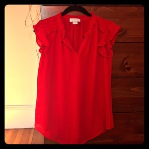 Liz Claiborne Red XS flutter sleeves top